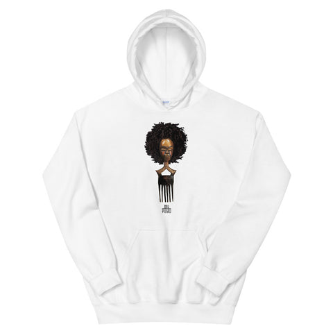 Afro pick mask hoodie - afro