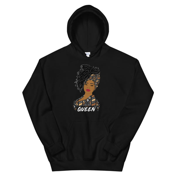 Queen woman hoodie | African print | African Queen | Natural Hair| Bogolan