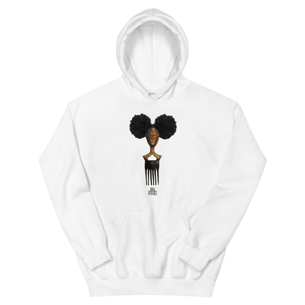 Afro Pick Mask Hoodie - Afro Puff