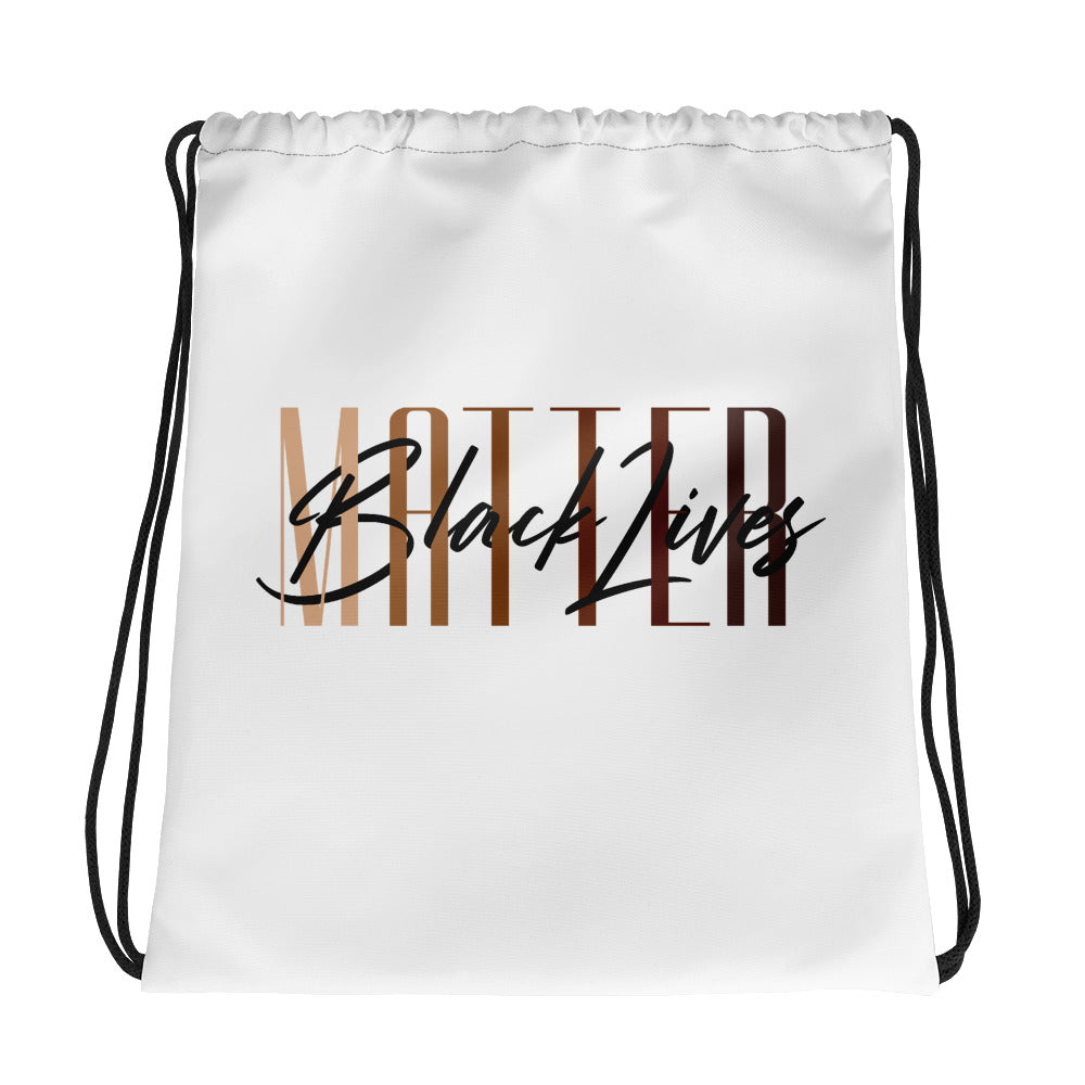 Black Lives Matter Drawstring bag