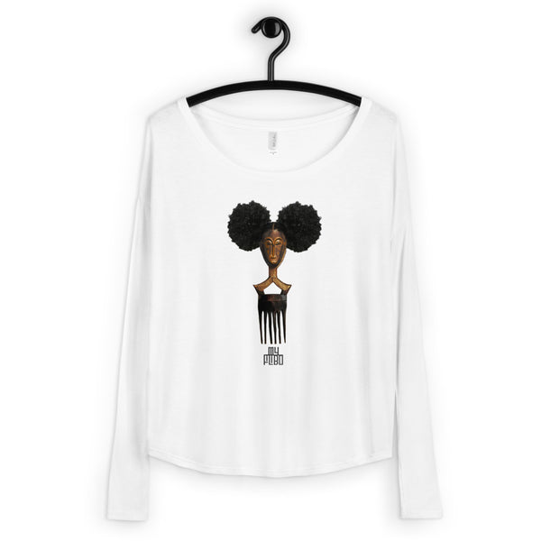 Afro Pick Mask Long Sleeve Tee - Afro Puff