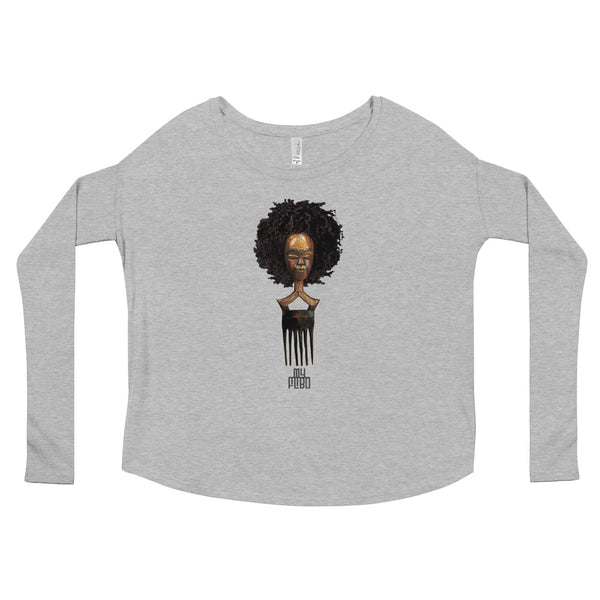 Afro Pick Mask Long Sleeve Tee - Afro |