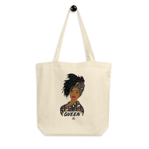 Queen woman tote bag - Bogolan | African Queen | Natural Hair