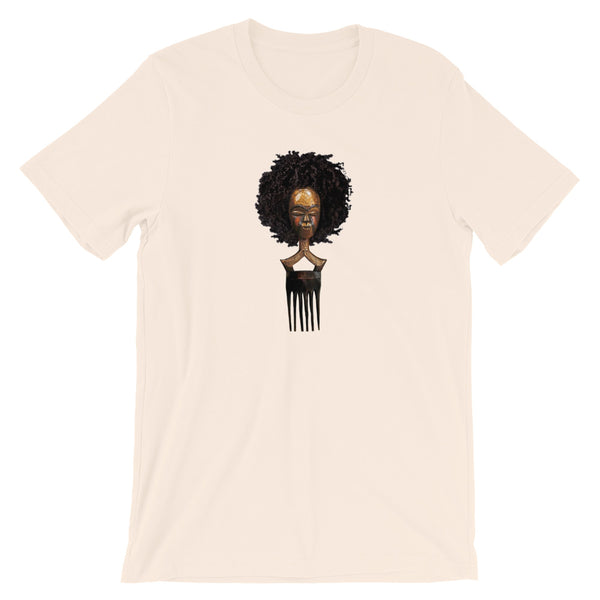 Afro pick mask t-shirt - Afro