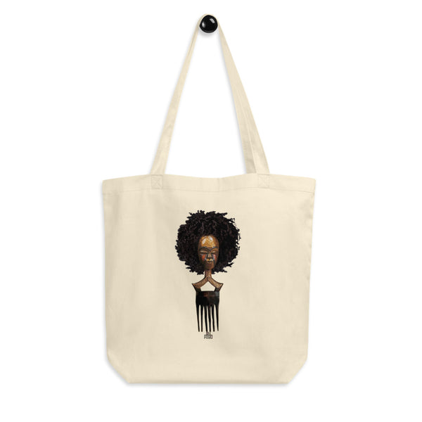 Afro Pick Mask Tote Bag | Afro