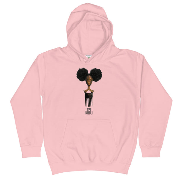 Afro Pick Mask Hoodie - Afro Puff (Youth)