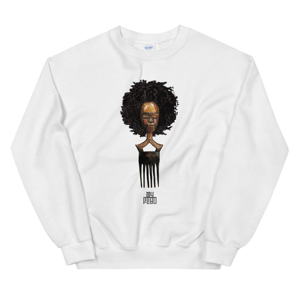 Afro pick mask sweatshirt - Afro