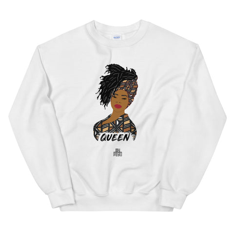 Queen woman sweatshirt | African print | African Queen | Natural Hair | Bogolan