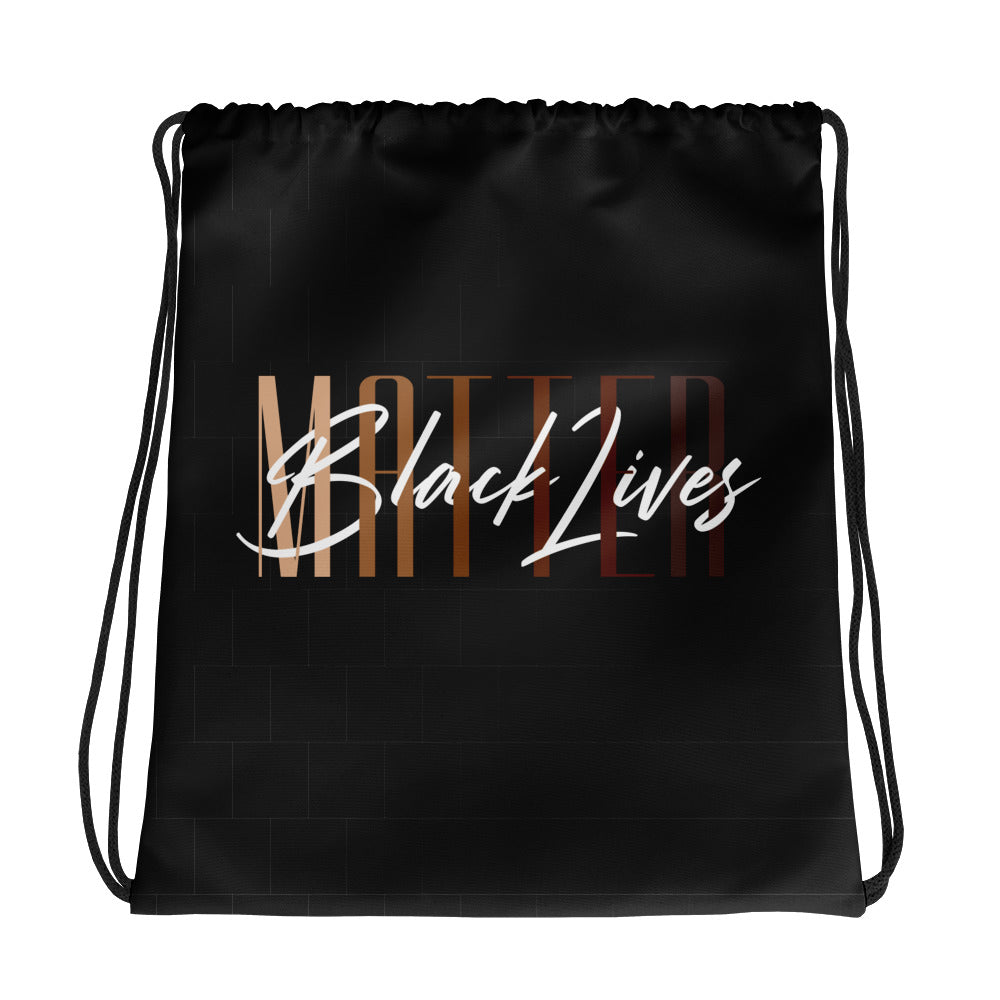 Black Lives Matter Drawstring bag | Black |