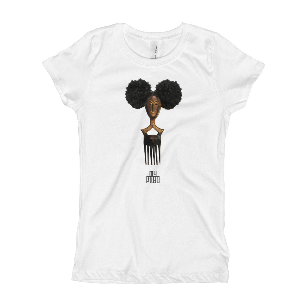 Afro Pick Mask T-shirt - Afro Puff (Girl)