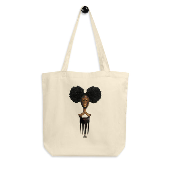 Afro Pick Mask Tote Bag | Afro Puff