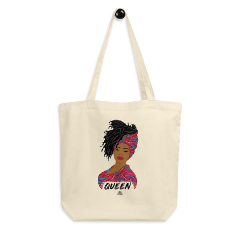 Queen woman tote bag - African print | African Queen | Natural Hair |