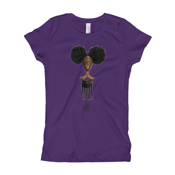 Afro Pick Mask T-shirt - Afro Puff (Girl) |