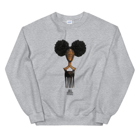Afro Pick Mask Sweatshirt - Afro Puff