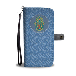 Wallet Phone Case -  Hamsa Protections (Blue)