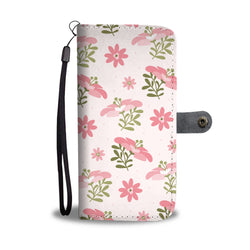 Floral Wallet Phone Case - Pride Pink