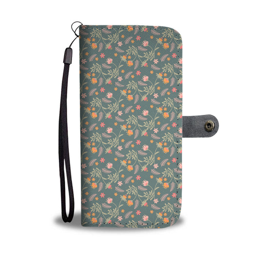 Floral Wallet Phone Case - Gracious Green