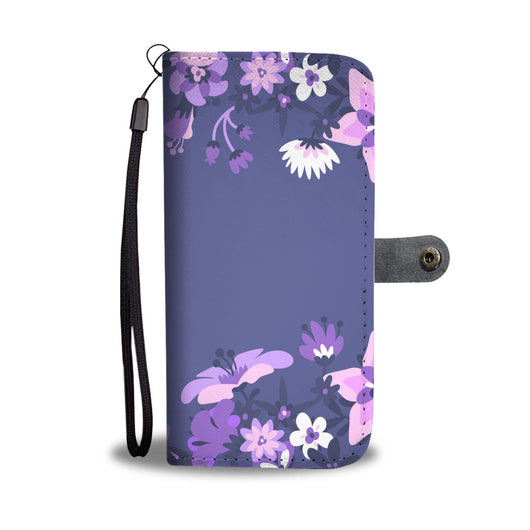 Floral Wallet Phone Case -  Posh Purple