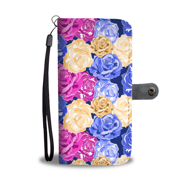 Floral Wallet Phone Case - Radiant Rose