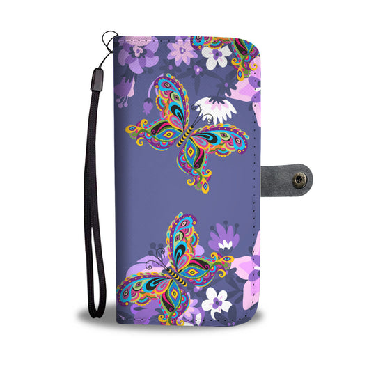Butterfly Wallet Phone Case - Lavender