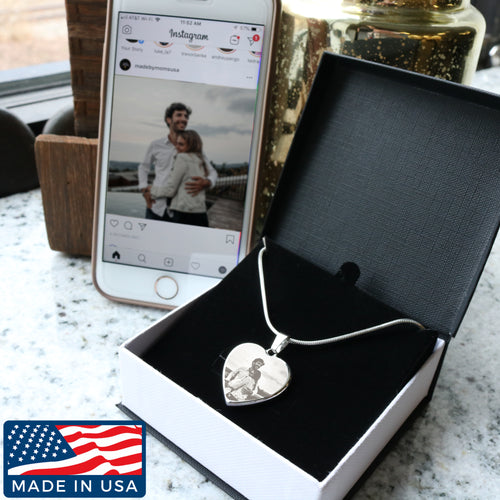 LASER ENGRAVED PERSONALIZED NECKLACE - (70% OFF)