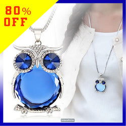 Sparkling Owl Pendant Necklace