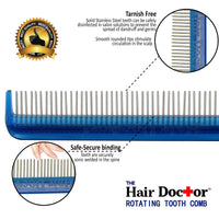 Hair Doctor Vanity Comb -smooth rotating stainless teeth prevents hair breakage and hair loss!