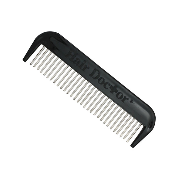 "Men's 4"" mini-comb with smooth rotating stainless steel teeth-reduces hair loss"