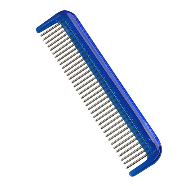 "Hair Doctor Men's 5"" Pocket Comb with smooth rotating stainless teeth to reduce hair loss"