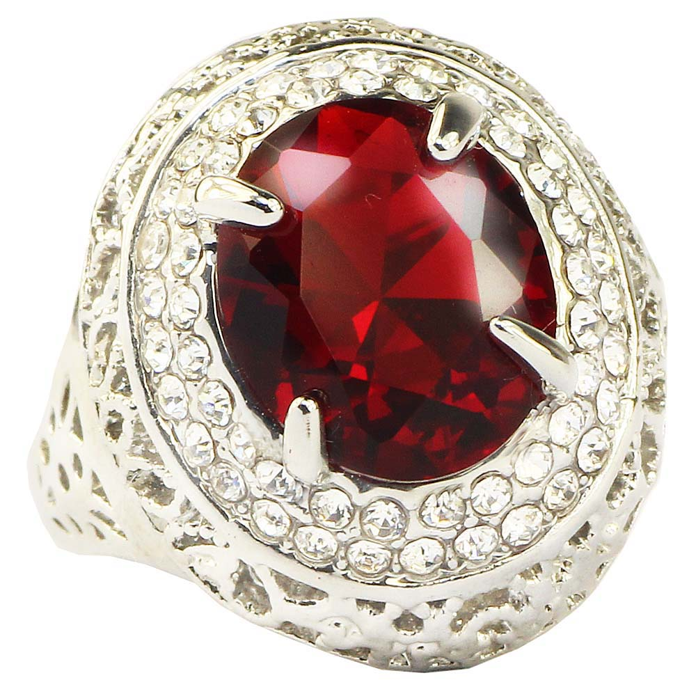 YaYI Fashion Women's Jewelry Ring Red Zircon Silver Color  Austrian Crystals Engagement Ring wedding gift - www.Kashamasha.com