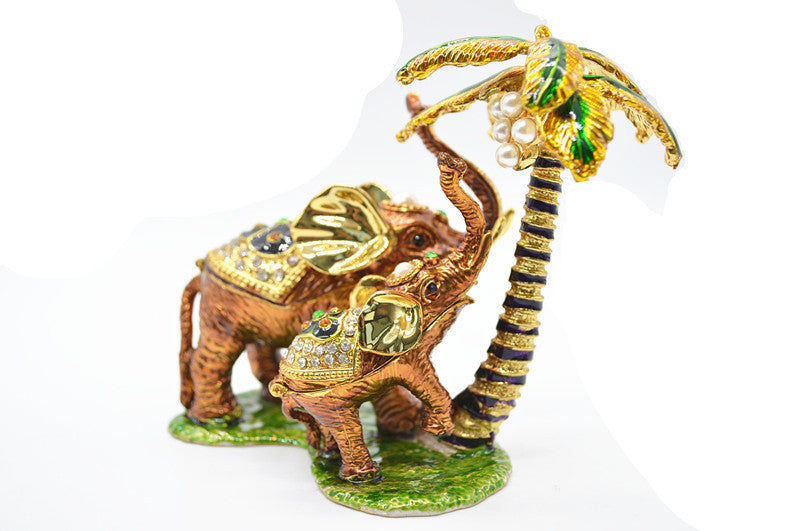QIFU Indian Wedding Favors Wholesale Elephant Decoration Metal Gift - www.Kashamasha.com