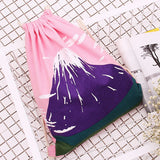 Mount Fuji Drawstring Bag