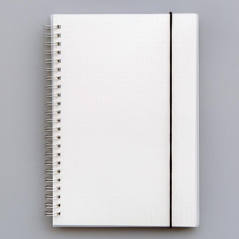 Transparent Spiral Notebook with Band