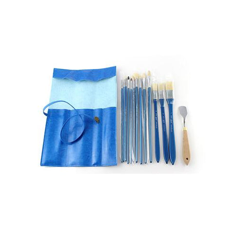 13 Piece Oil Painting Brush Set with Knife