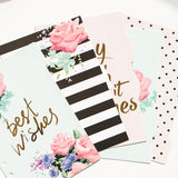 5 Pack Contrast and Calligraphy Binder Tabs