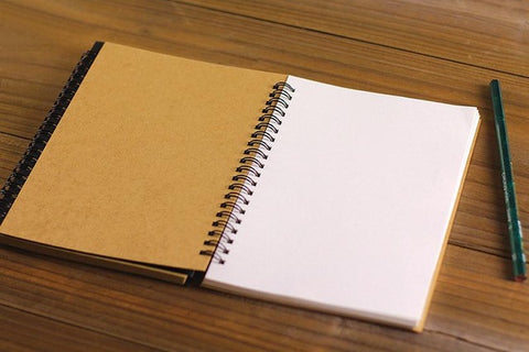 Kraft Cover Coil Sketch Pad