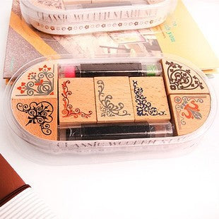 7 Piece Delicate Borders Stamp Set