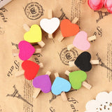 50 Pack Heart Shaped Wooden Pegs