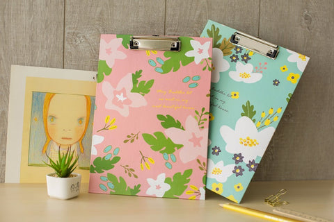 Printed Flowers Clipboards