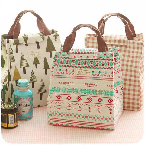 Canvas Thermal Lunch Bags