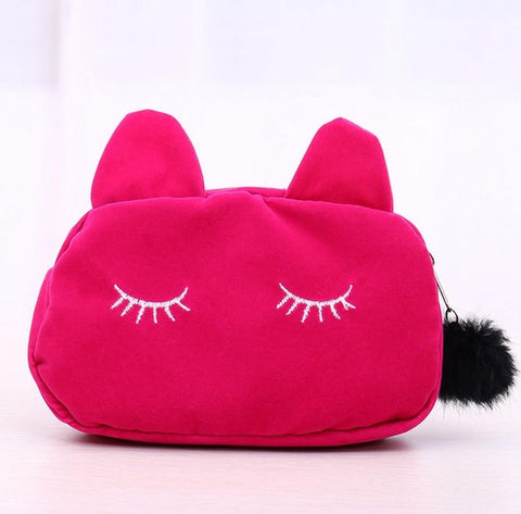 Sleepy Kitty Lush Pencil Case
