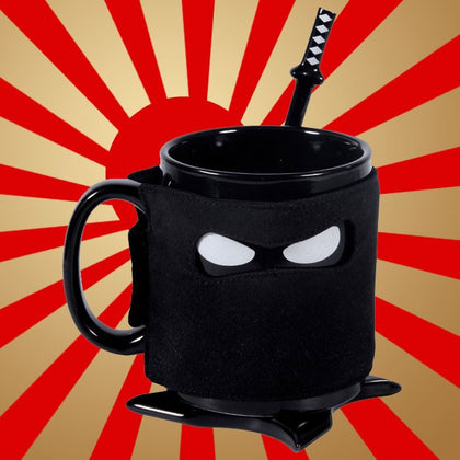 Awkward Ninja Cup with Spoon and Coaster