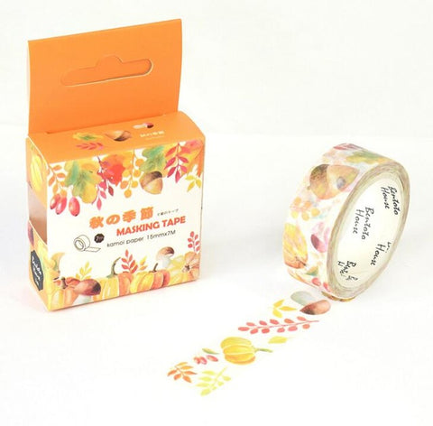 Autumn Pumpkin Washi Tape