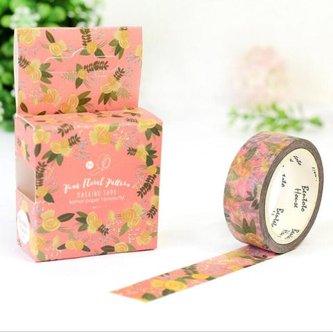 Past Floral Washi Tape