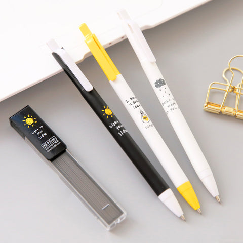 3 Pack Contrasting Mechanical Pencils with Lead