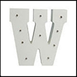 White Wooden LED Marquee