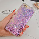 Heart and Stars Glitter Case