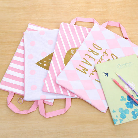 Pretty in Pink Document Bags
