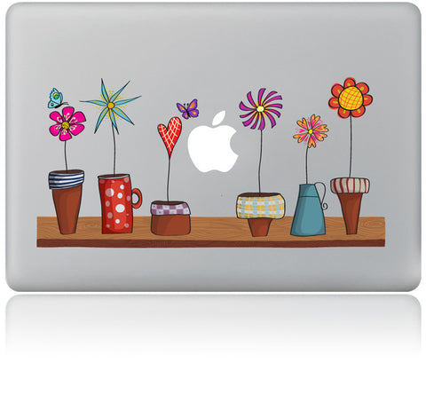 Flowerpot Pattern Laptop Skin