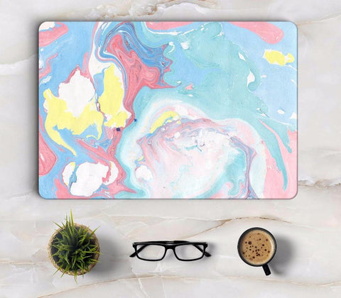 Marble Effect Colorful Laptop Skin